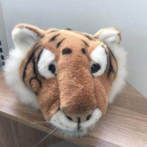 Cute Plush Tiger Head Safari Bag Kids School Backpack